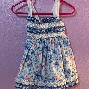 Other - Blue and white floral dress